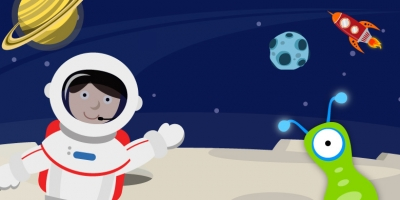 Outer space make a scene educational sticker apps for for Outer space scene