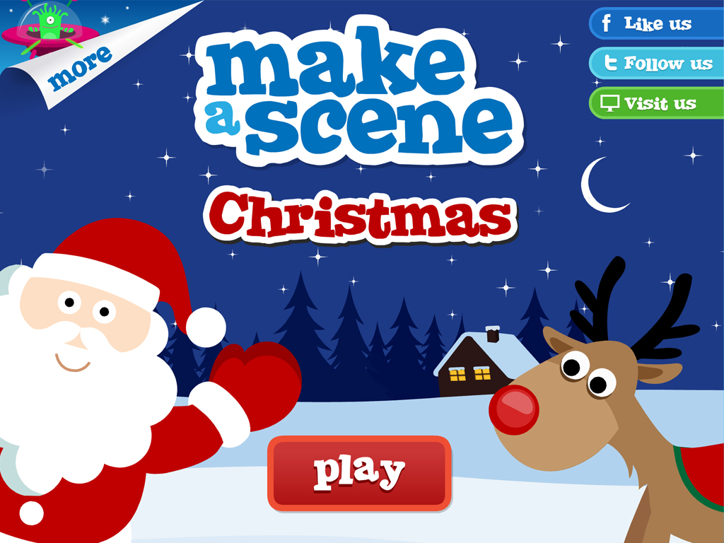 christmas make a scene educational sticker apps for children ios blackberry amazon. Black Bedroom Furniture Sets. Home Design Ideas