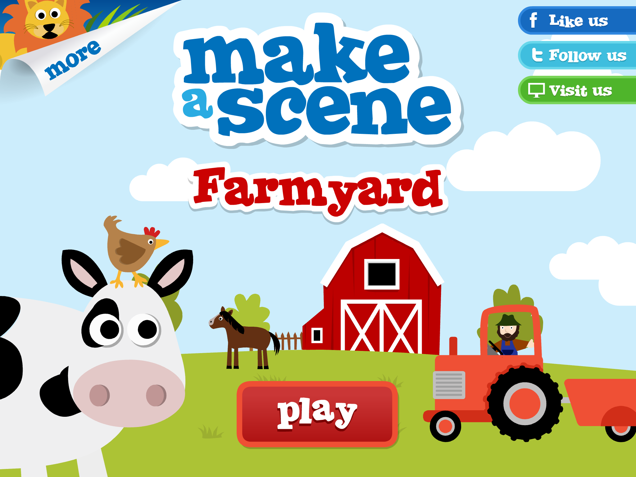 farmyard make a scene educational sticker apps for children ios blackberry amazon google. Black Bedroom Furniture Sets. Home Design Ideas